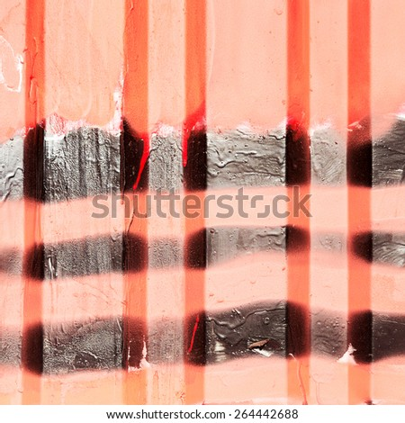 Creative background c cracks, scratches, streaks and patches of paint, carelessly painted metal with red and black paint. Textured background for your concept or project. Great background or texture. - stock photo