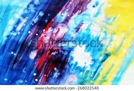 Creative background, Painting art or Art studio, Rainbow abstract, Concept art - stock photo