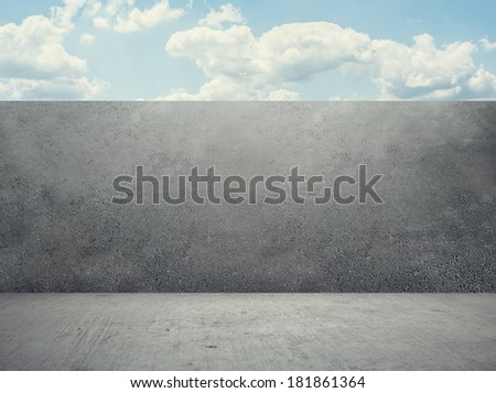 Creative Background with Sky - stock photo
