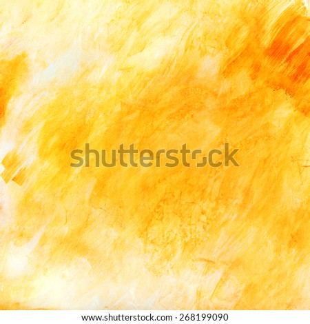Creative beautiful bright yellow background, cracks and scratches on the concrete. Grungy concrete surface. Great background or texture for your project. - stock photo