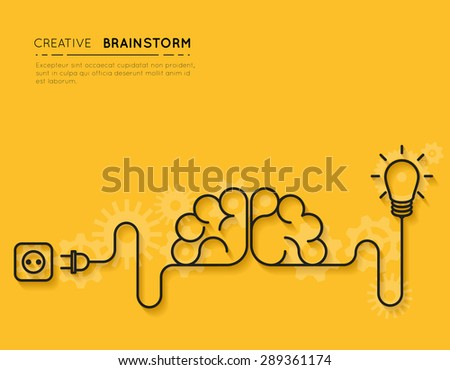 Creative brainstorm concept business idea, innovation and solution, creative design - stock photo