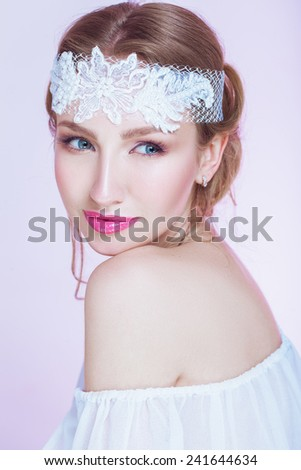Creative bride  - stock photo