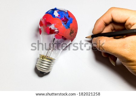 creative bulb - stock photo