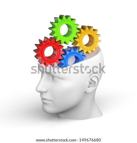 Creative concept of the human brain - Thinking - stock photo