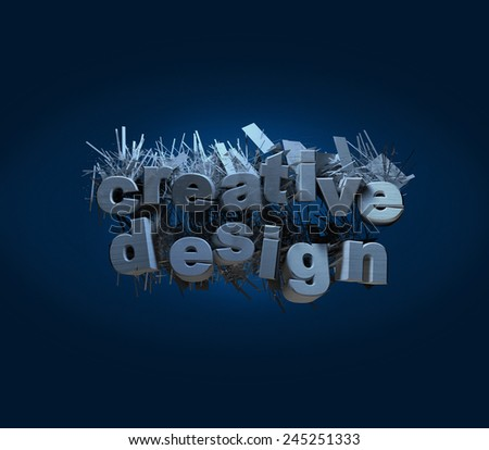creative design logo logos render billboard illustration abstract render billboard graphic text 3D
