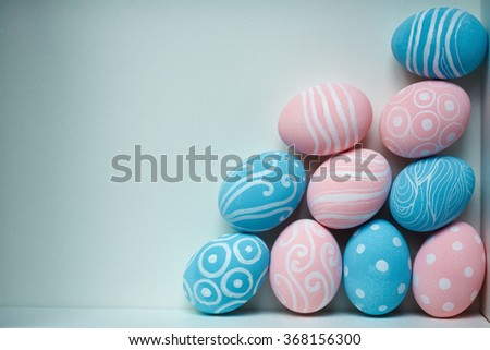Creative Easter eggs - stock photo