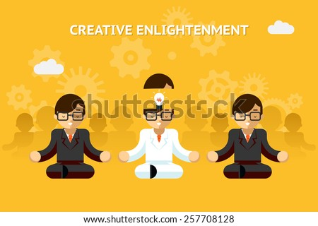 Creative enlightenment. Business guru creative idea concept. Leadership and expertise, emotional - stock photo