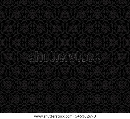 creative floral geometric pattern. seamless raster illustration. black and grey color