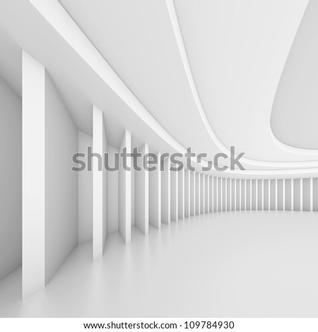Creative Hall Interior - stock photo