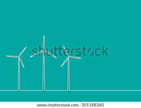 creative idea concept template . line in the form of a windmill.