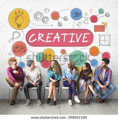 Creative Ideas Design Inspiration Imagination Concept - stock photo