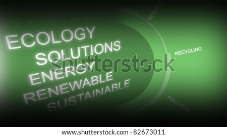 Creative image of green economy concept - stock photo
