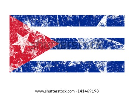 Creative image of the flag of Cuba in a grunge style - stock photo