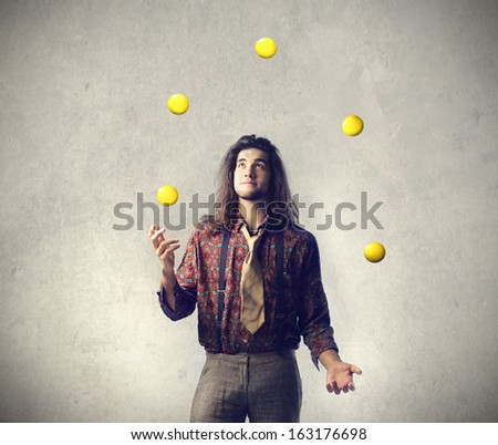 Creative Juggler - stock photo
