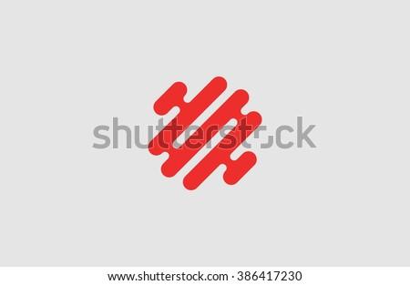 Creative logo. Brain logo. Minimalistic logo design. Abstract logo. - stock photo