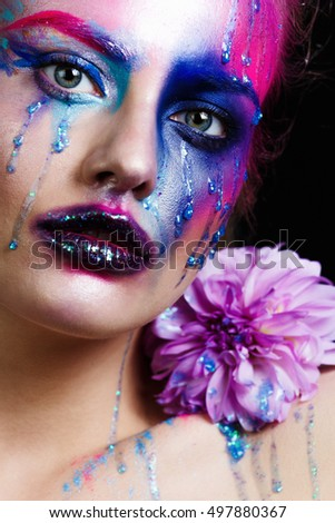 creative make-up girl portrait
