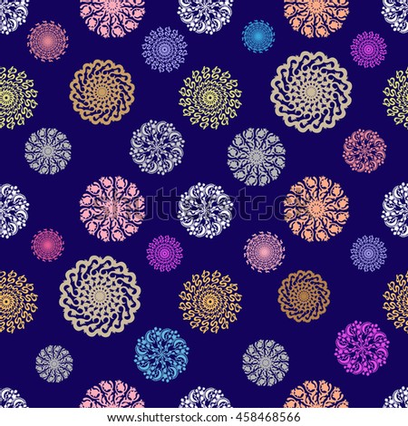 Creative Mandala Pattern Ancient Indian Symbols Stock Illustration