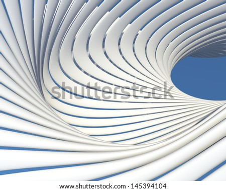 Creative modern architecture background. Abstract luxury geometric wallpaper - stock photo