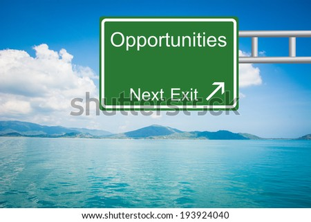Creative Opportunities Road Sign  - stock photo