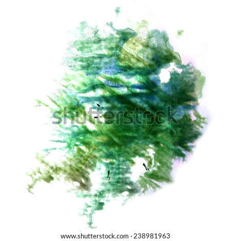 creative paint splash green, blue ink stain watercolour blob spot brush watercolor abstract background texture_