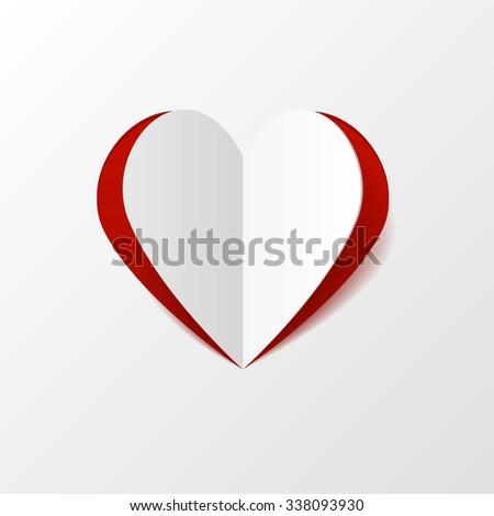 Creative paper heart - stock photo