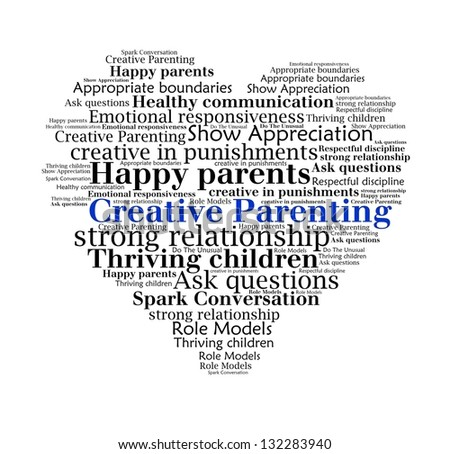 Creative Parenting n word collage - stock photo
