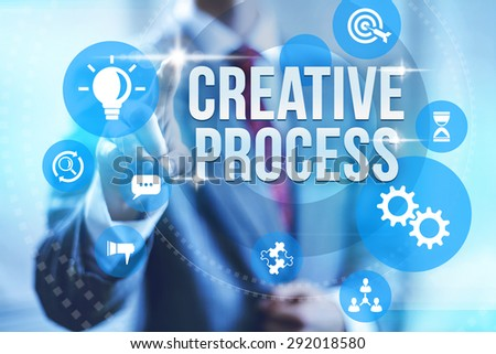 Creative process creating new innovations illustration - stock photo