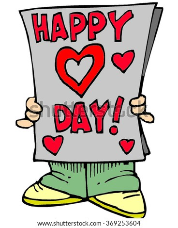 "Creative,red inscription on fresh newspaper ""Happy valentines day"".Vintage happy valentines day.Red lettering Happy valentines day.Celebration Happy valentines day.Sticker Happy valentines day.Lovers. - stock photo"