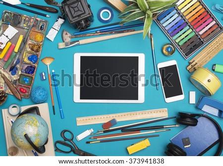 Creative responsive design header image - stock photo