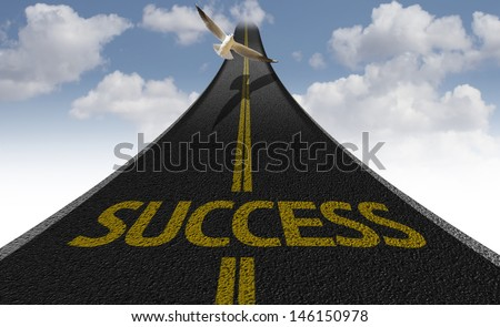 Creative road with the message - Success - stock photo