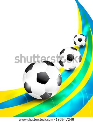 Creative soccer brochure design.  - stock photo