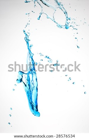 Creative splashing water