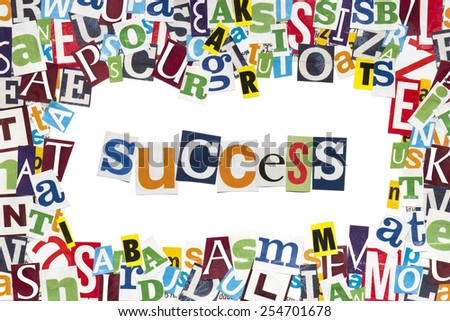 Creative text - Success - stock photo