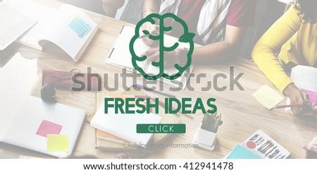 Creative Thinking Big Ideas Refresh Concept - stock photo