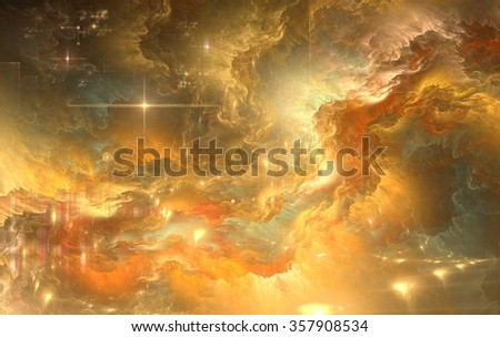 Creative Universe location fractal elements, fantasy, science, religion and design  - stock photo