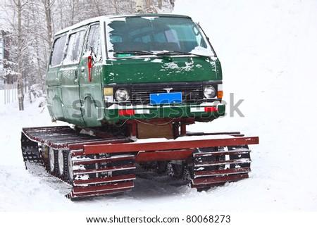 Creative van-tank - stock photo