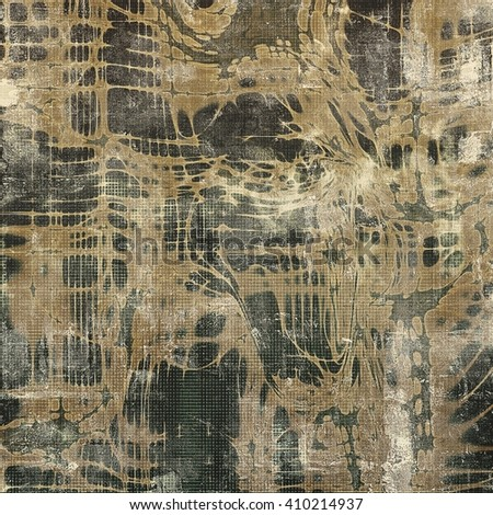 Creative vintage surface texture, close up grunge background composition. With different color patterns: yellow (beige); brown; gray; black