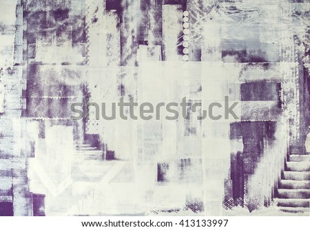 creative wall painting, modern, grunge brush and roller strokes