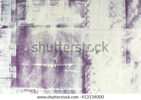 creative wall painting, modern, grunge brush and roller strokes - stock photo