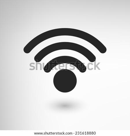 Creative WiFi icon element. - stock photo