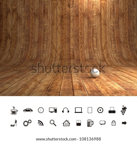 Creative Wood Background - stock photo