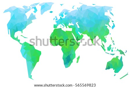 Creative world map bright green continents stock illustration creative world map bright green continents on a white background gumiabroncs Images