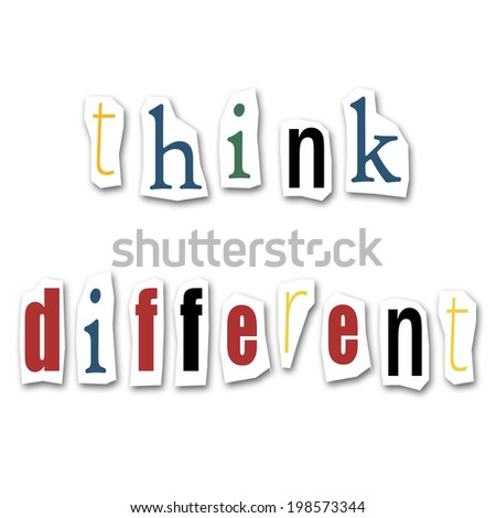 creative writing  think different - stock photo