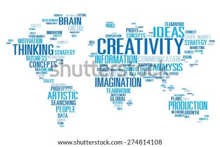 Creativity Artistic Imagination Inspiration Innovation Concept - stock photo