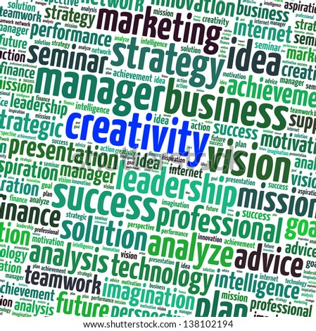 Creativity business info text graphics - stock photo