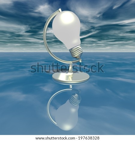 creativity, ideas abstract surreal concept with light bulb