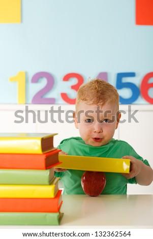creativity in a preschool - stock photo