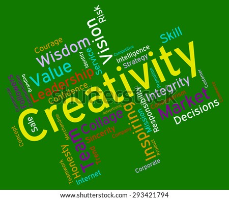 Creativity Words Indicating Vision Talent And Invention