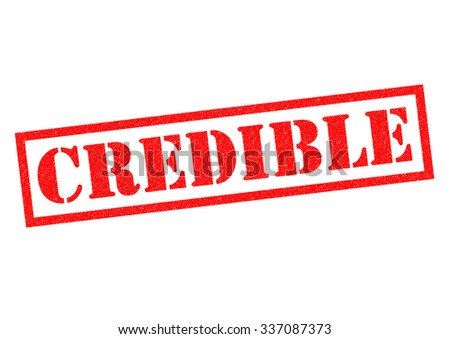 CREDIBLE red Rubber Stamp over a white background.