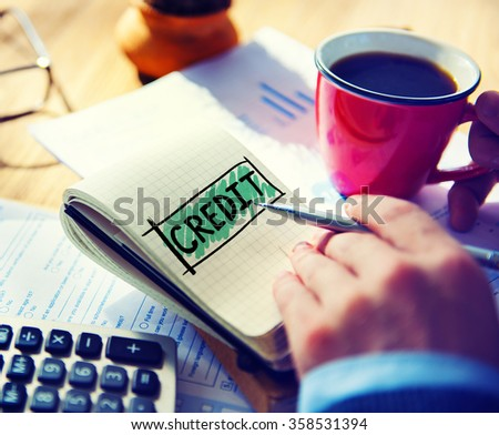 Credit Accounting Banking Financial Business Concept - stock photo